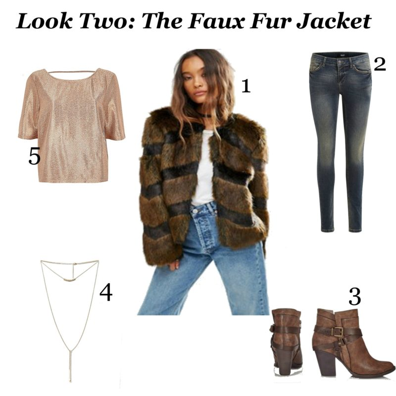 Faux Fur Jacket Brown Lookbook Asos Riverisland Dune Emergingstyles