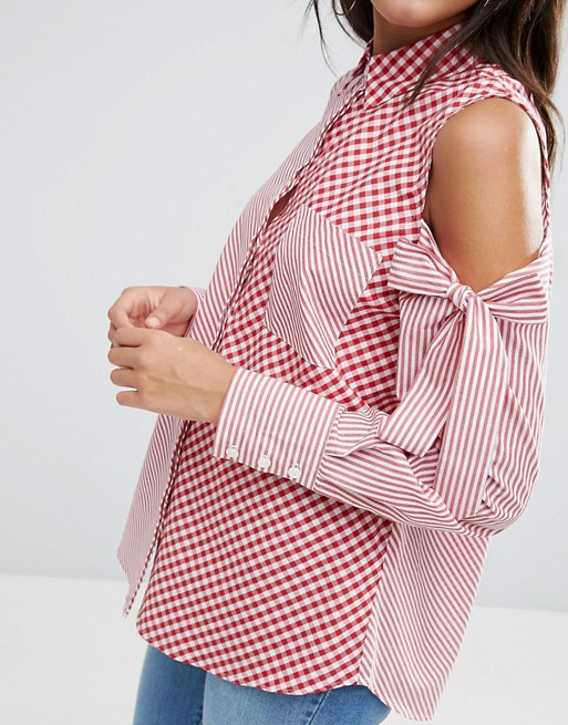 Give it the Cold Shoulder: The Top 10 Options, Asos, Emergingstyles, Cold Shoulder Top, Gingham, Stripes, Bows