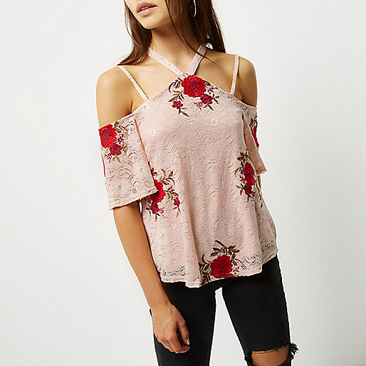 Give it the Cold Shoulder: The Top 10 Options, Asos, Emergingstyles, Cold Shoulder, Blush Pink, Lace, Floral, Riverisland