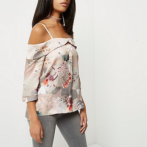 Give it the Cold Shoulder: The Top 10 Options, Asos, Emergingstyles, Cold Shoulder, Grey Print, Floral, Riverisland