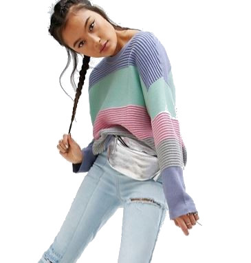 ASOS Jumper in Stripe and Knit Stitch, Autumn Winter 2017, emergingstyles.com