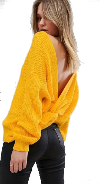 Misguided Twist Back Oversized Jumper - ASOS Blog, Autumn Winter 2017, emergigngstyles.com blog