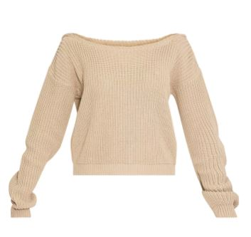 ROSALINA STONE OFF THE SHOULDER CROP JUMPER PLT, Pretty Little Thing, Autumn Winter 2017, emergigngstyles.com