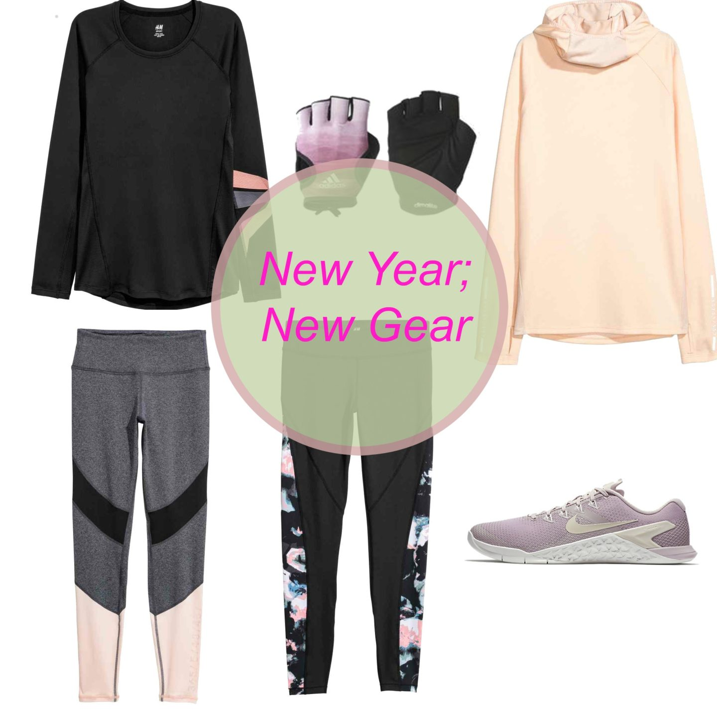 Workout Gear, Fitness, Pastels, Nike, Asics, Adidas, HM, H and M, Emergingstyles, New Year New You, Women's trainers, be active, be fit, 2018 fitness goals, Irish Fashion Blogger